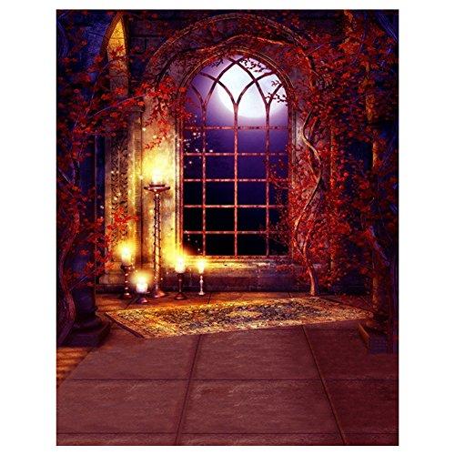 SODIAL(R) Halloween Geheimnisvolle Szene Gotik gewoelbt Architektur Bogen Fenster Fotografie...