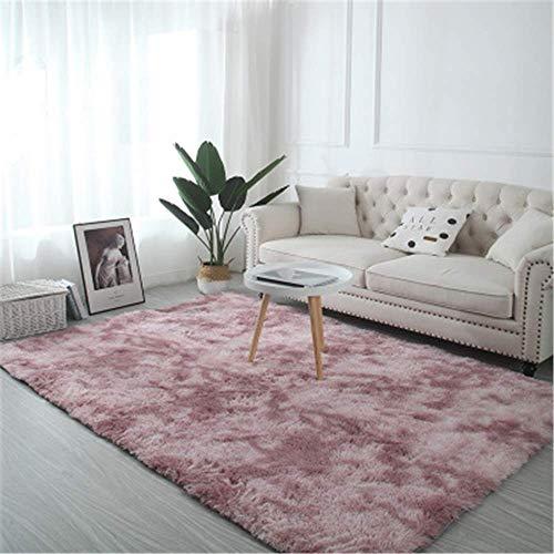 Xyaz tappeti per interni ultra morbidi, morbidi per soggiorno tappeti per bambini adatti per la camera da letto decorazioni per la casa tappeti per camera da lettosfumatura rosa chiaro,80 * 160cm