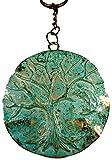 Keychain Schlüsselanhänger Platte Lebensbaum 13 x 6,5 cm Ring 2,5 cm Ø Anhänger Deko GDB C49