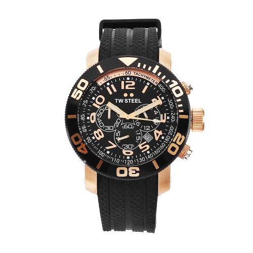 TW Steel Diver TW-93 - Reloj Unisex de Cuarzo, Correa de Goma Color Negro