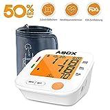 Digitale Oberarm Blutdruckmessgeräte,ABOX 3.2 inch Display mit orange Hintergrundbeleuchtung,22-42cm,2 * 90 Speicherplätze mit WHO Anzeige Arrhythmie Erkennung Modell U80H,Weiß