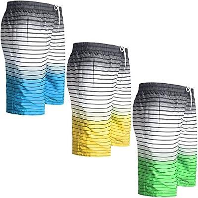 Mens Boys Swimming Board Shorts Trunks Lined Zip Pockets Summer Beach Holiday