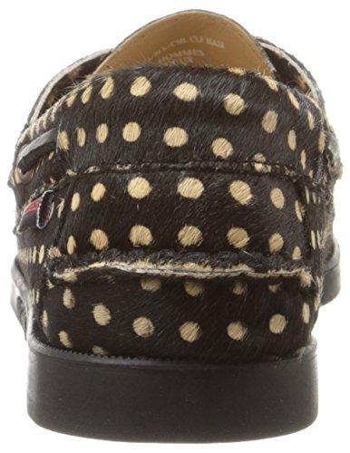 Sebago Docksides, Damen Bootschuhe Black/Camel Calf Hair