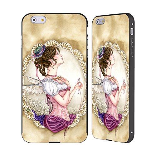 Ufficiale Meredith Dillman Fantasioso Fate Nero Cover Contorno con Bumper in Alluminio per Apple iPhone 5 / 5s / SE Fantasioso
