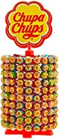 Chupa Chups 180er Lutscherrad plus 20 Lollis gratis | Lollipop-Ständer mit 7 leckeren Geschmacksrichtungen, (200 x 12 g)