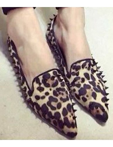ZQ gyht Scarpe Donna - Mocassini - Casual - A punta - Piatto - Finta pelle - Animal , leopard-us8 / eu39 / uk6 / cn39 , leopard-us8 / eu39 / uk6 / cn39 leopard-us6 / eu36 / uk4 / cn36