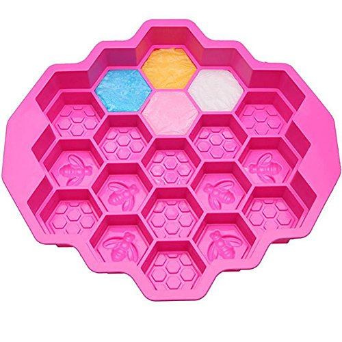 UKBIOLOGY Accessories Kitchen Home Baking Tray Huge Honey Silicone Bees Soap Beeswax Chocolate Comb cake mold Pan Mold