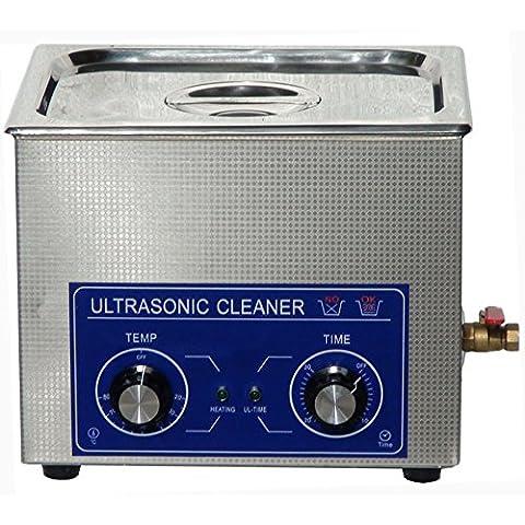 Jakan - Limpiador de acero inoxidable para piezas como cilindro inyector o impresora de combustible con temporizador y calentador, 10 l,