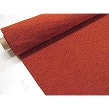 Confección Saymi - Metraje 0,50 mts. tejido Chenilla color Teja con ancho 2,80 mts.