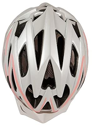 AWE Women's Aerolite Pink Lady Bicycle Helmet - White/Pink, Size 56-58 by AWE®