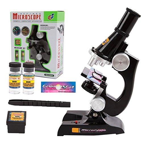 Kinder Mikroskop Set, 100x 200x 900x Wissenschaft Kinder Mikroskopie Kit Pädagogisch Mikroskop Kosmos für Früherziehung für Schüler und Kinder