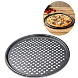 Antihaft-Backblech, Pizza, Pizza Backen Aluminiumguss Pfanne Stahl Carbon Tablett 32 cm Pizzateller Schalen Halterung Bakeware Home Küche Backen Werkzeug Zubehör