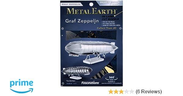 Metal Earth Graf Zeppelin Luftschiff MMS063 3D Figur Metallbausatz