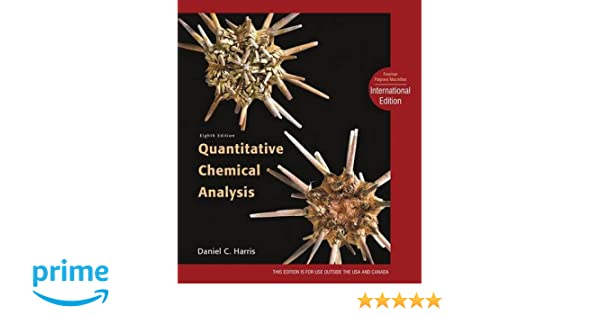Quantitative Chemical Analysis International Edition AmazonCo