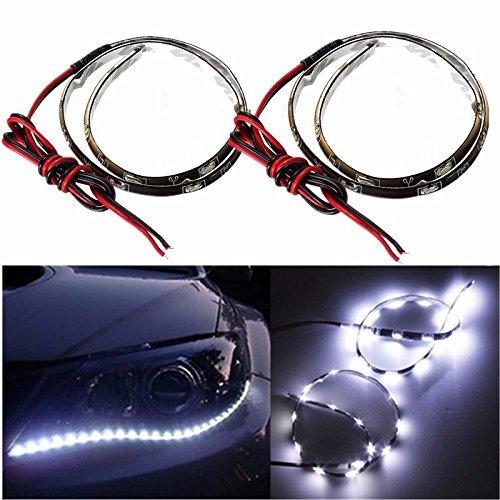 MASUNN 2ST weiß 12 inch 15 LED Side Shine DRL Scheinwerfer Streifen