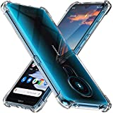 Lustree for Nokia 5.3, [Bumper] Exculsive Silicon Transparent with Anti Dust Plugs Shockproof Slim Back Cover Case for…