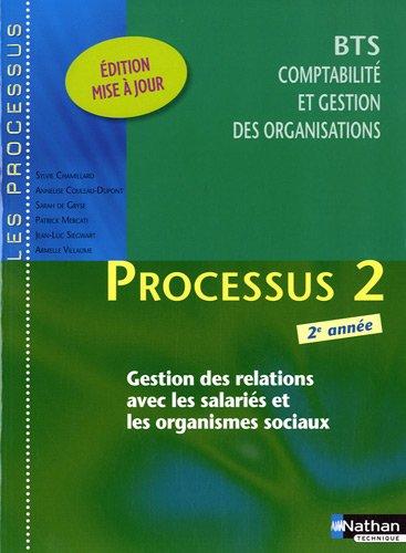 BTS 2e année Comptabilité et gestion des organisations - Processus 2 : Gestion des relations avec les salariés et les organismes sociaux