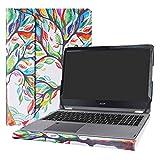 Alapmk Specialmente Progettato PU Custodia Protettiva in Pelle per 15.6' Acer Aspire R15 R5-571T R5-571TG & Acer Swift 3 15 SF315-51G SF315-51 SF315-41 Series Notebook,Love Tree