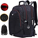 Freebiz 60L Zaino Impermeabile 18,4 Pollici Borsa per Notebook Laptop Zaino Adatto per Fino a 18 pollici Gaming Laptops per Dell, Asus, MSI (Nero) Con una Travel Backpack Ruckasck USB Presa (60L)