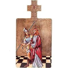 Idea Regalo - Holyart Quadri Stazioni Via Crucis 15 Pezzi Legno