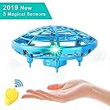 semai UFO Drohne, UFO Flying Ball, Kinder Mini Drohne, Fliegender Ball Handsteuerung, Flugzeuge Spielzeug, Hubschrauber Quadrocopter mit 360°Rotierenden und LED-Leuchten, Geschenke für Jungen Mädchen -