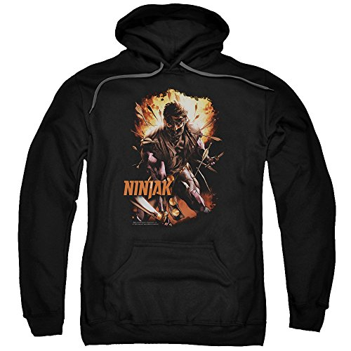 Ninjak, Fiery Ninjak-Felpa con cappuccio da uomo Nero