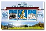 100 Jahre Republik Österreich   Briefmarken-Block   Österreich  Exklusiv  Auflage Nur 999 Exemplare