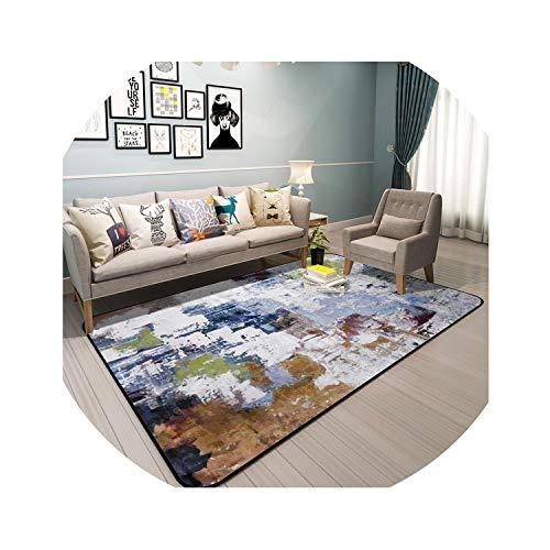 Abstrakte Kunst Teppiche Für Privatanwender Wohnzimmer Bunte Teppiche für Schlafzimmer Anti Slip Couchtisch Bodenmatte Garderobe Teppich, ZM7030,1000mm x 1500mm