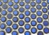 Fliesen Mosaik Mosaikfliese Keramik Knopf uni kobalt blau glänzend 5mm Neu #198