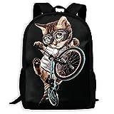 JKOVE Rucksack,Schulrucksack,BMX CAT Backpack Laptop Bags Shoulder Bag College Daypack Backpacks for...