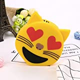 Hykis - Cute Cartoon Emoji 8800mAh Portable USB External Battery Charger Power Bank For Cell Phone for Iphone 8 X Fast Charging[ E ]