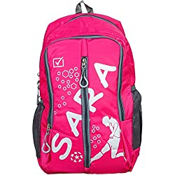 Sara Polyester 25 Ltrs Pink School Bag