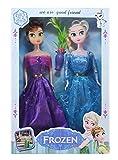 #9: Tickles Multi Frozen Sister Ana and Elsha Doll Stuffed Soft Plush Toy Love Girl 28 cm