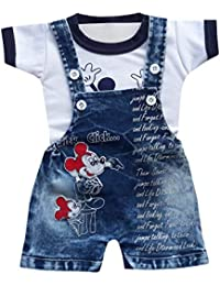 8db7057e7 BabyMart Baby Boys Baby Girls Party Wear Casual Wear Printed Applique Hight  Quality Printed Half Sleeves