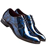 Men Fashion Shoes Dress Pointed Toe Floral Patent - Best Reviews Guide