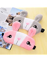 New Relaxing Cooling Cute Rabbit Sleeping Eye Sleep Masks Deep Sleep Silk Gel Shade Eyepatch Eye Mask