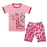 Qtake Fashion Mädchen Schlafanzug Pink Rose Gr. 2-3 Jahre, Rose