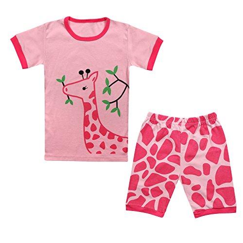 Qtake Fashion Girls Pajamas Children Clothes Set Deer 100% Cotton Little Kids Pjs Sleepwear