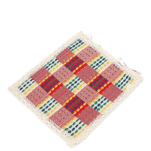 A+ Dining Stuhlkissen Vier Jahreszeiten Baumwollkissen Mit Riemen Stoff Tisch Stuhlkissen Dünner Abschnitt Atmungsaktive Hocker Matte 45x45cm (Farbe : A) -