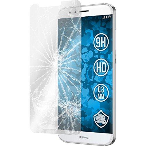 PhoneNatic 2 x Glas-Folie klar kompatibel mit Huawei G8 - Panzerglas für G8