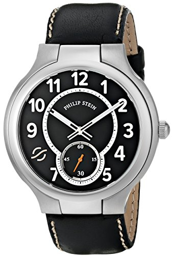 Philip Stein Men's 42-SB-CSTB Round Analog Display Japanese Quartz Black Watch