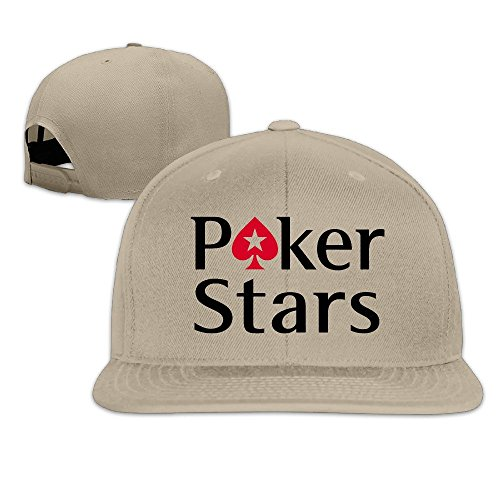 Hittings Pokerstars Logo Adjustable Snapback Baseball Hats Flat Cap Black Natural