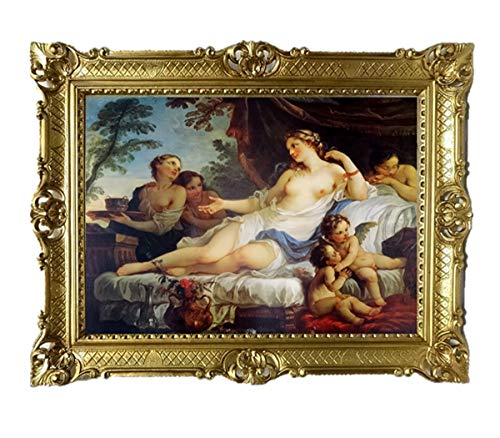 Lnxp Bild Bilderrahmen Foto 90x70 cm Renaissance AKT EROTIK SEXY Exklusive Reproproduktion Bilder...