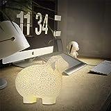 Wpond 3D Druck Schafe Form Lampe mit Fernbedienung Nachtlicht für Party Dekoration Remote control 16 colors 18cm