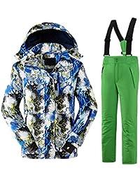 Keamallltd Al Aire Libre Invierno Niños Traje de esquí Chaquetas de esquí  Conjunto Niños Deportes Traje Impermeable… 93cf159cf36