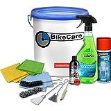 BikeCare Motorrad Pflege Set, Pflege-Eimer-Set,...