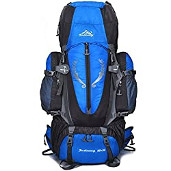 Skytower 80L senderismo mochila marco interno mochilas para apoyo para al aire libre senderismo viajes escalada Camping impermeable montaña Top montañismo bolsa, azul