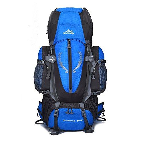 Skytower 80l hiking zaino interno telaio di supporto per escursionismo viaggio arrampicata campeggio impermeabile mountain top alpinismo bag, Blue