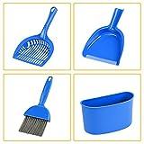 Zehui 4Kehrschaufel und Pinsel Set Käfig für Meerschweinchen Katzen andere kleine Tiere Reinigung Werkzeug