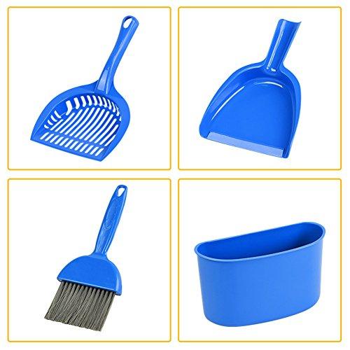 Zehui 4Kehrschaufel und Pinsel Set Käfig für Meerschweinchen Katzen andere kleine Tiere Reinigung Werkzeug -